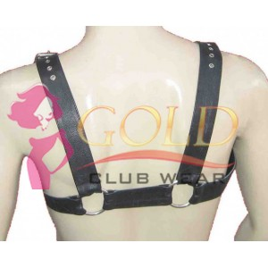 LEATHER ADJUSTABLE HARNESS WITH O-RING