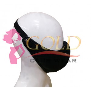 Black Leather Corona virus Protected Mask with Breathing Space Ring