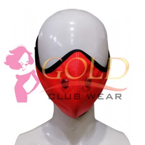 Night Vision Red Leather Corona virus Protected Mask with Breathing Space