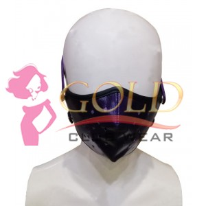 Purple Leather Corona virus Protected Mask with Breathing Space Removable Fabric or Tissue