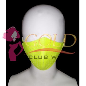 Night Vision Yellow Leather Corona virus Protected Mask with Breathing Space