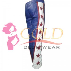 Leather Trouser With Red Stripe & Red Star