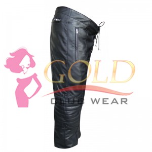 Leather Trouser With Front Lace
