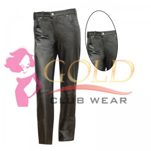 Men's  Jean's Style Leather Pant
