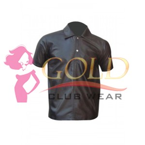 Leather Polo T-Shirt