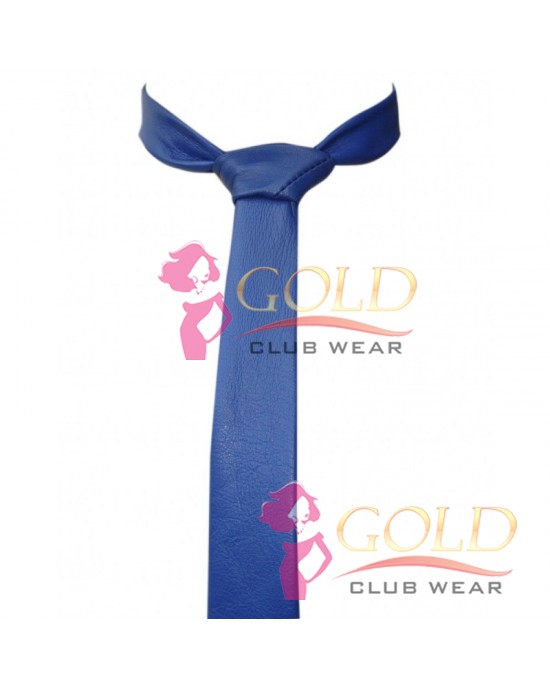 BLUE LEATHER TIE