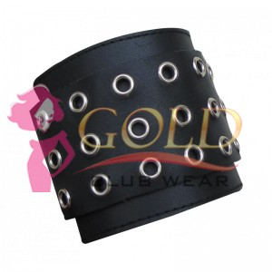 LEATHER WRISTBAND WITH EYELETS