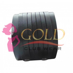 LEATHER WRISTBAND WITH FRILL STYLE