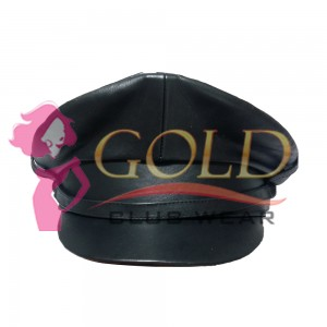 Officer Cap Real Leather Police Hat Performance Stage Show Night Bar Hat