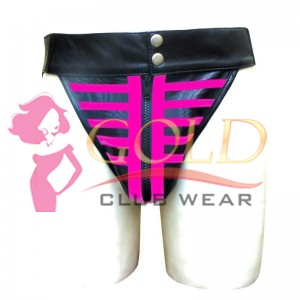 LEATHER JOCKSTRAP SKELETON STYLE WITH PINK STRIPE