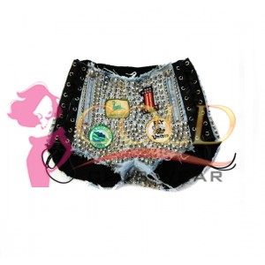 Heavy Metal & High Fashion Light blue Hot Pants