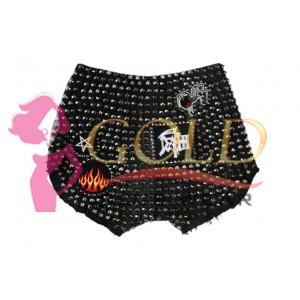 Ladies Denim Shorts Heavy Metal Studded