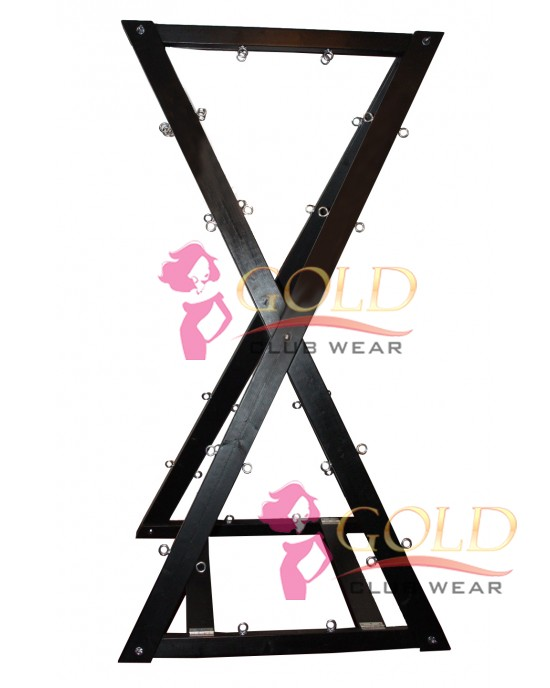 Double Sided st Andrews Cross Black Stain