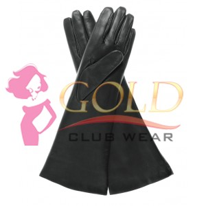 Fur Length Leather Gloves