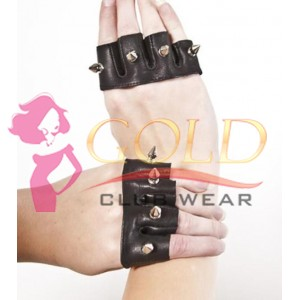 Leather Spike Knuckle Duster Gloves