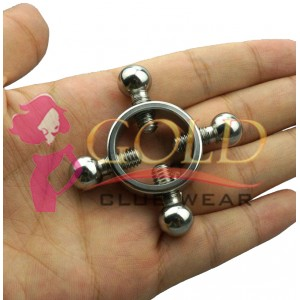 Master Series Rings of Fire Stainless Steel Nipple Clamp Set