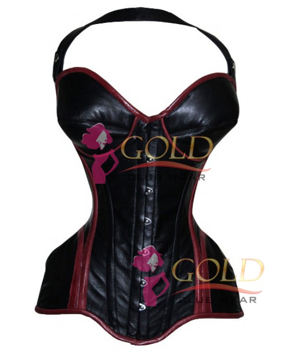 Leather Corset Tight Lacing Bustier