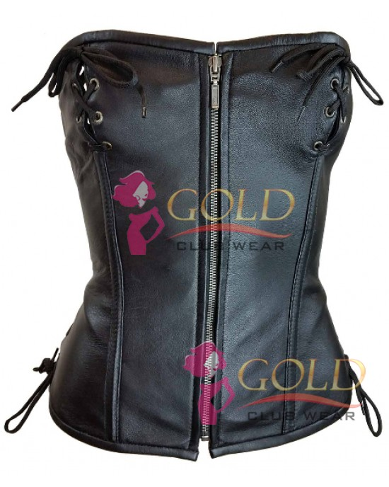 Leather LACED TOP CORSET Eye Closure