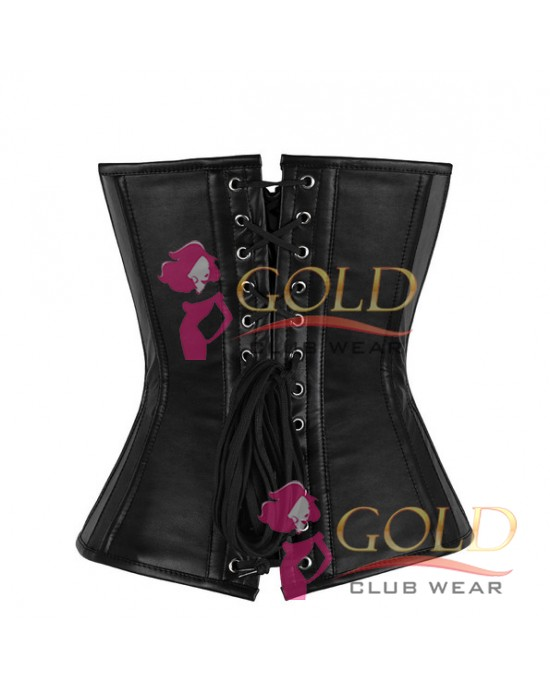 Leather Corset With Clasps Lock
